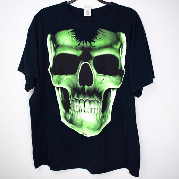 Liquid Blue Shirts Retro Glow In The Dark Skull T Shirt Poshmark